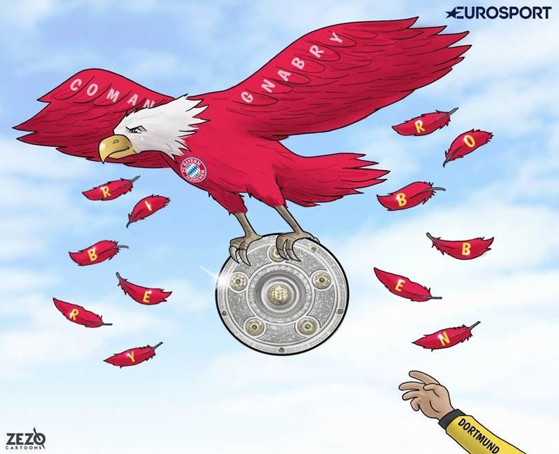 """Karikatura: """"Bavariya""""ning yangi qanotlari chempionlikni himoya qilishdi"""