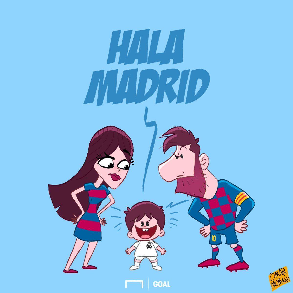 """Omar Momanidan yangi karikatura: Messining o'g'li """"Real"""" urgan gollardan quvonadi"""