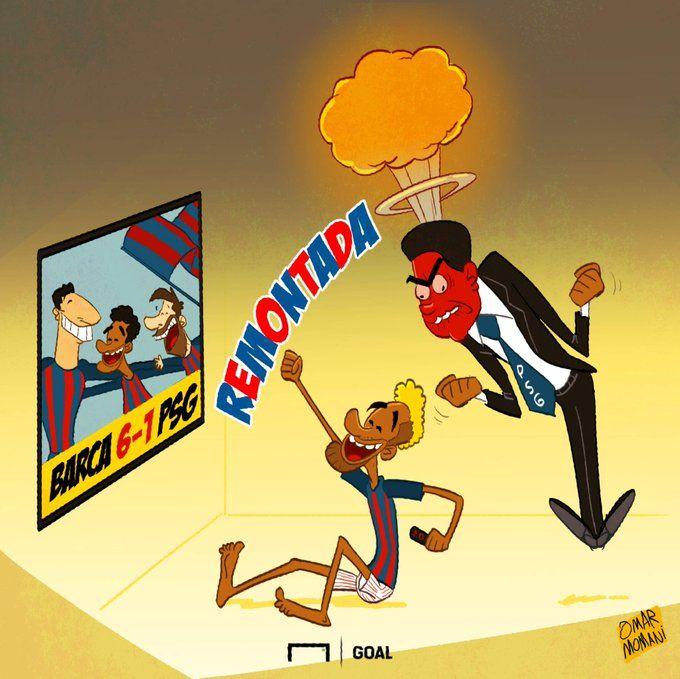 Omar Momanidan yangi karikatura: Neymarning hayotidagi eng ajoyib dam
