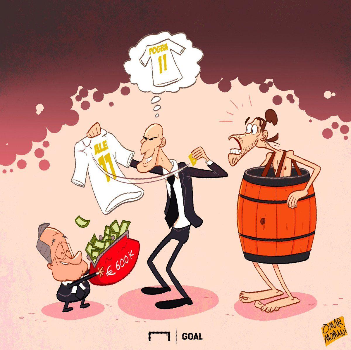 Omar Momani karikaturasi: Zidan Beylning o'rniga Pogbani olib kelmoqchi-mi?