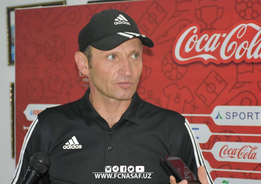 """Aleksandr Xomyakov: """"Nasaf"""" bilan ochiq futbol o'ynash tanklar to'dasiga qarshi borishdek gap"""""""