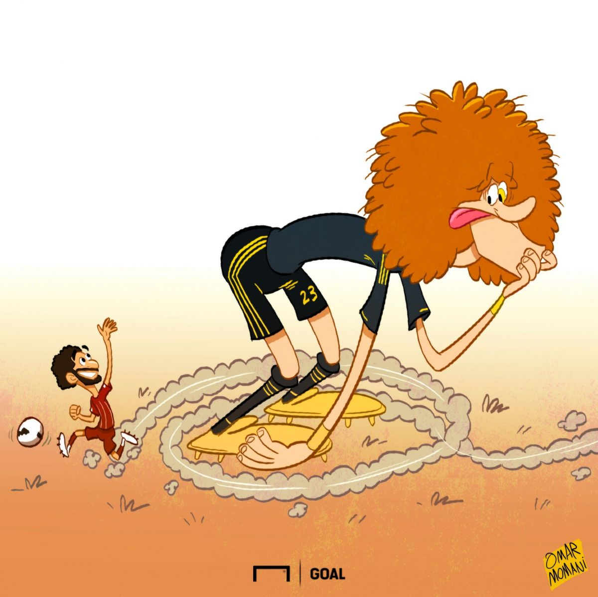 Omar Momanidan yangi karikatura: Salah David Luizni nima ko'yga soldi?!