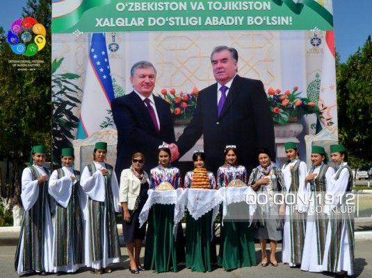 """Foto            """"Xo'jand"""" (Tojikiston) jamoasi azolari Qo'qon shahriga etib kelishdi"""