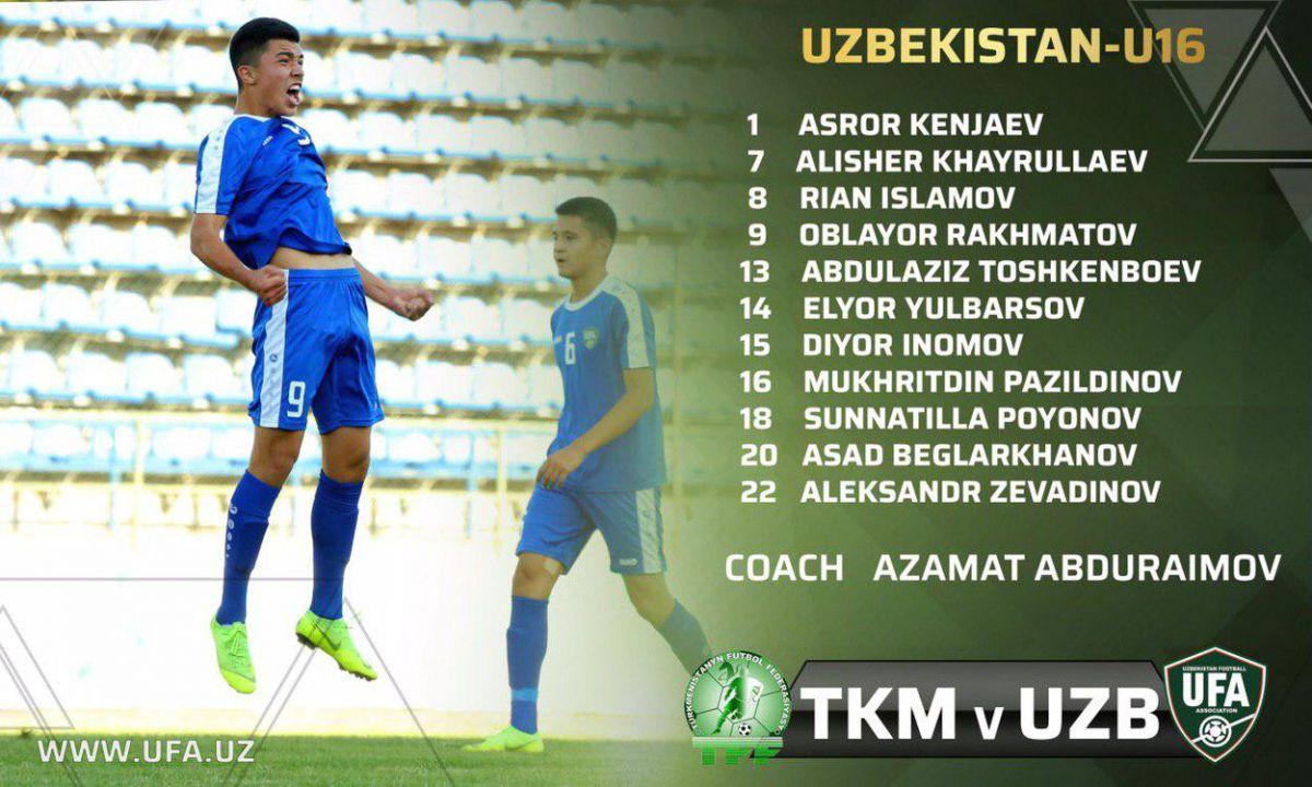 Live            U-16 Osiyo chempionati-2020 saralashi. O'zbekiston - Turkmaniston (onlayn hisob)