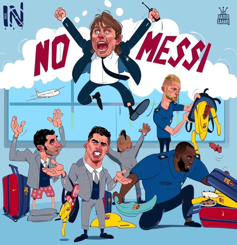"""Messi """"Inter""""ga qarshi o'ynamaydi, Konte bag'oyatda xursand"""