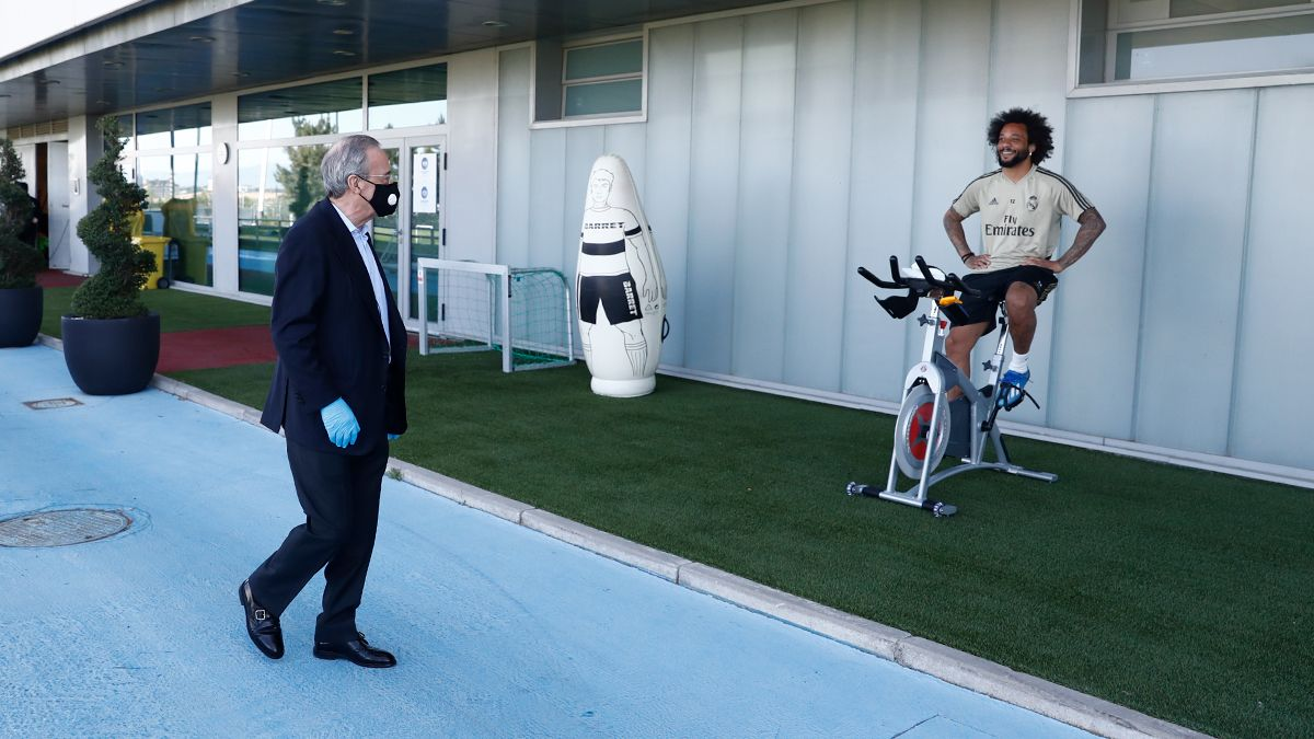 """Peres """"Real Madrid"""" mashg'ulotlariga tashrif buyurdi (+foto)"""