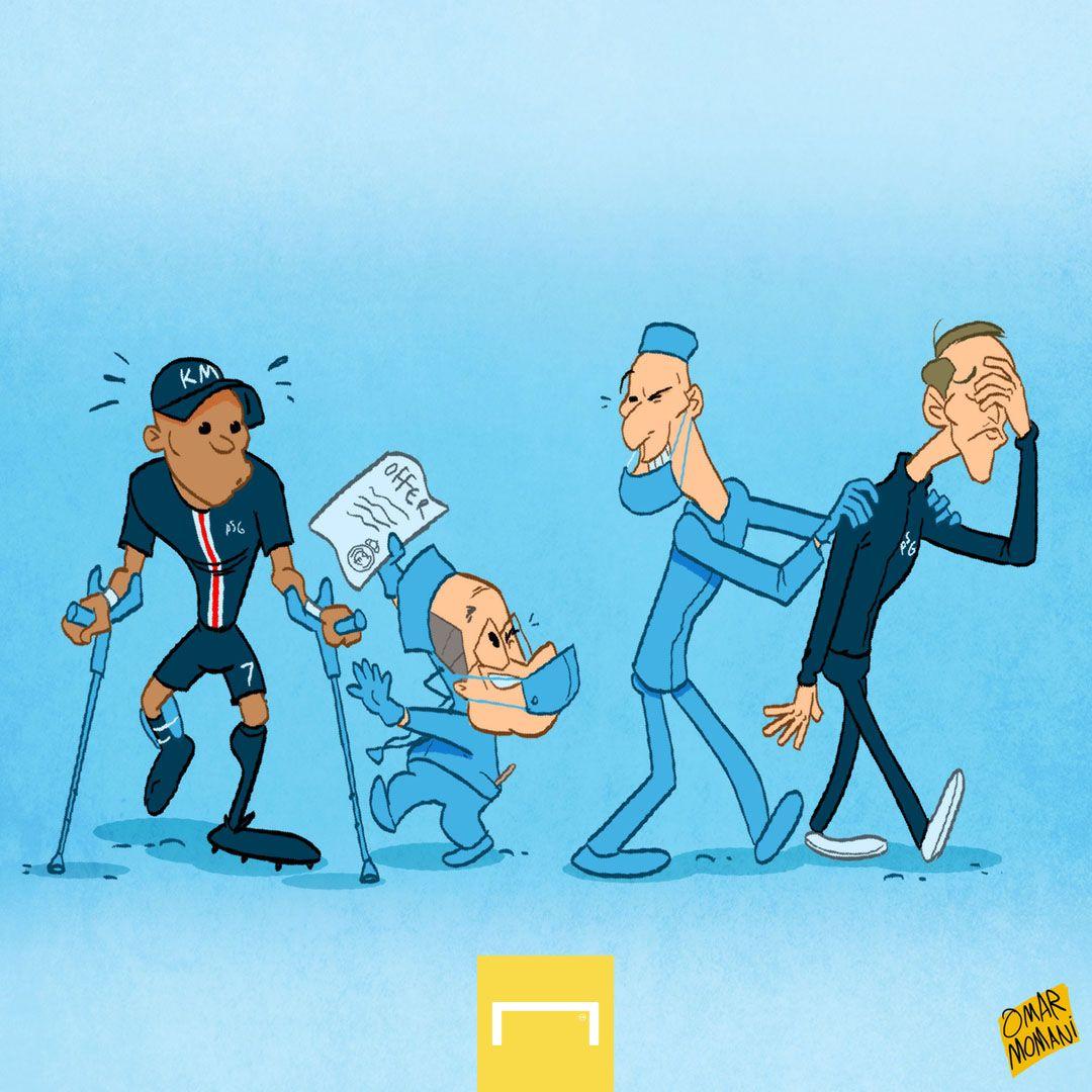 "Kun karikaturasi. Mbappe uch ""Real""..."