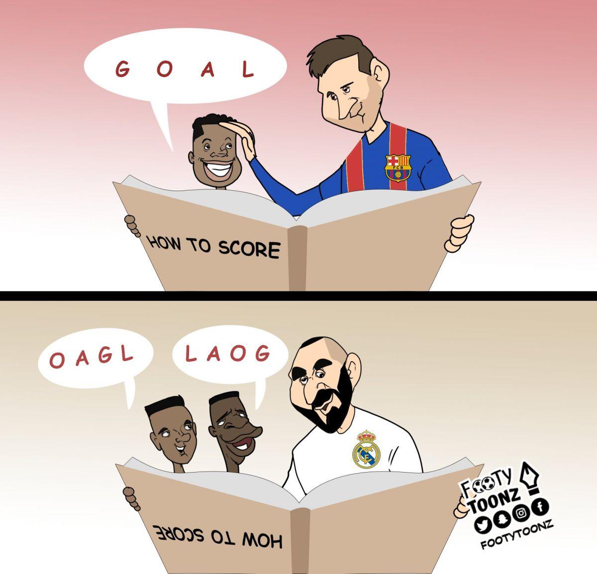 Karikatura: Fatining ustozi va Rodrigo-Vinisiusning ustozi
