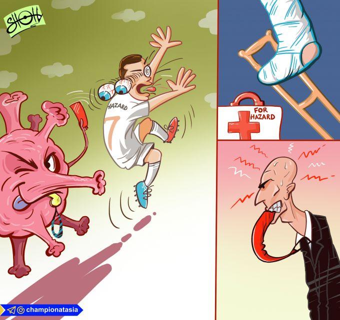 O'zimizning karikatura: Jarohatdan tuzalgan Azar koronavirusga yo'liqdi