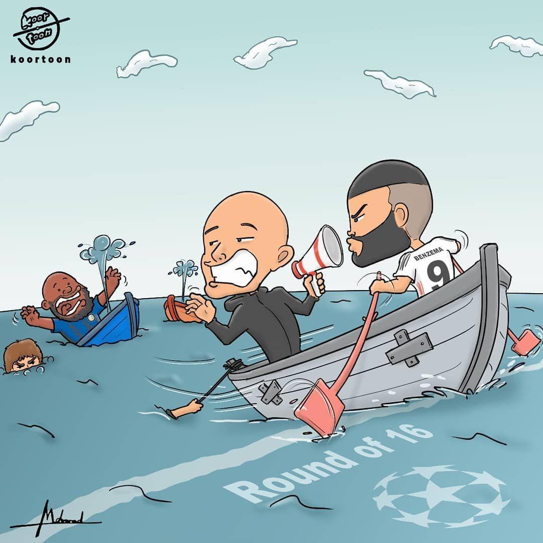 """Karikatura: Benzema """"Real""""ni keyingi bosqichga olib chiqdi"""