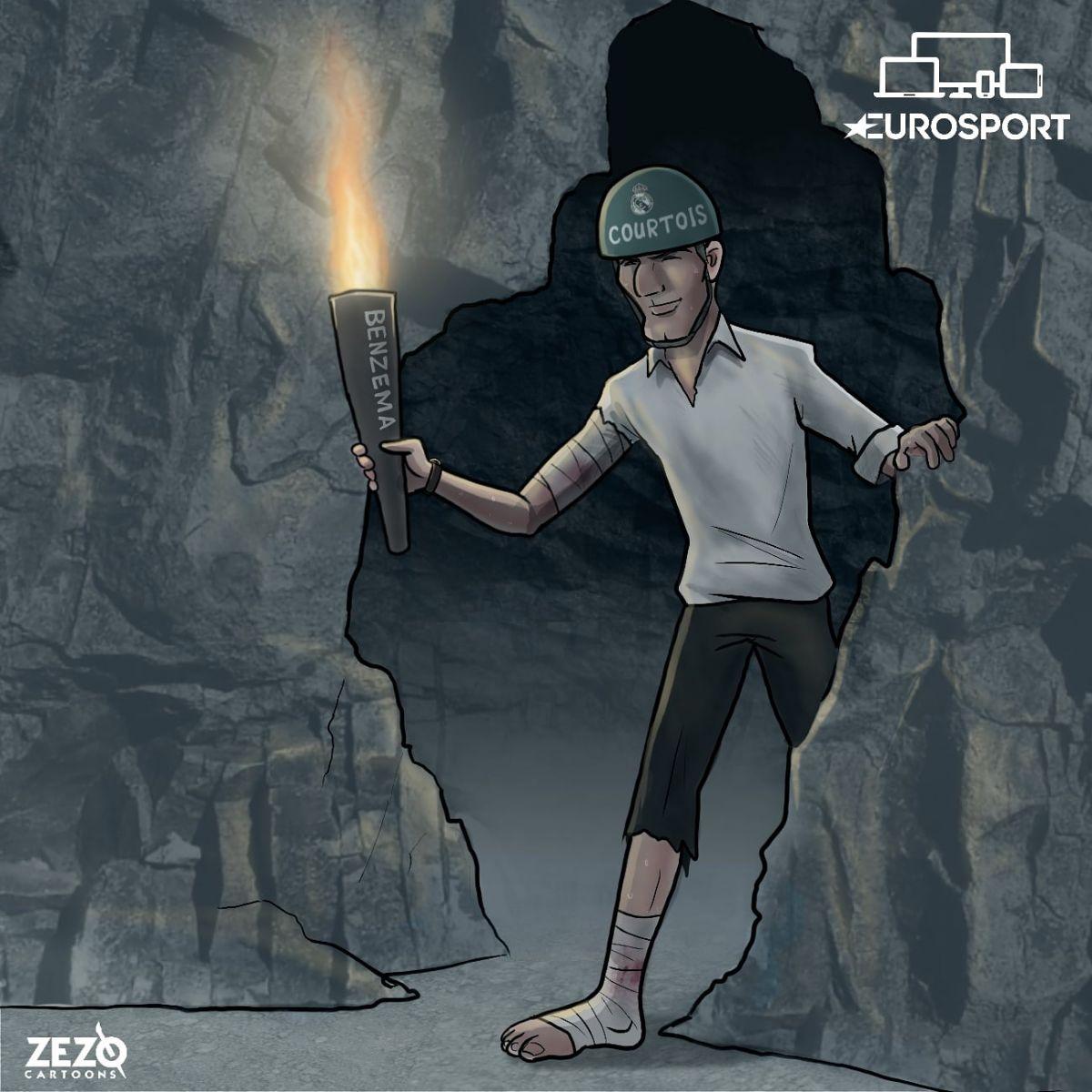 Karikatura: Zidan va uning jamoasi yana o'ziga o'xshamoqda