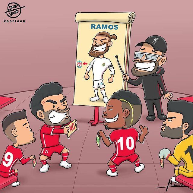 Karikatura: Kloppga Ramos kerak