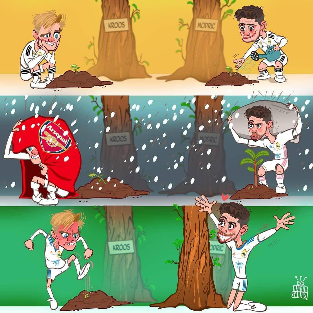 Karikatura: Valverde va Edegor kabi o'yinchilar o'rtasidagi farq!